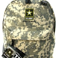Us Go Army Strong Backpack Military Look Hiking Travel Backpack Licensed