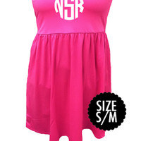 Monogrammed Pink Bathing Suit Cover Up | Swimwear | Marley Lilly
