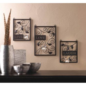 Live Love Laugh Candle Holder Wall Decor
