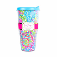 Insulated Tumbler With Lid | 500909 | Lilly Pulitzer