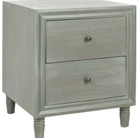 Blaise Accent Stand With Storage Drawers French Grey