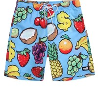 Neff Hot Tub Fruit Salad Boardshorts - Mens Board Shorts - Blue