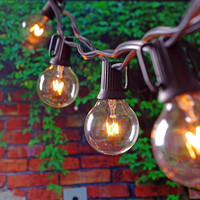 25Ft Globe String Lights with 25 G40 Bulbs- Vintage Patio Garden Light string for Deco Outdoor lights string for Christmas Party