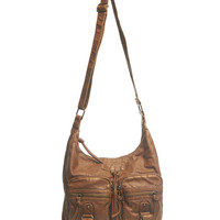 Slouchy Vegan Leather Hobo Bag | Wet Seal
