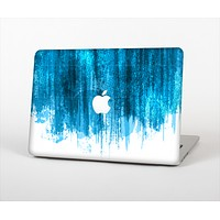 """The Brushed Vivid Blue & White Background Skin Set for the Apple MacBook Air 13"""""""