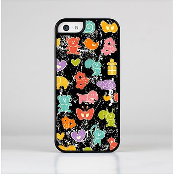 The Furry Fun-Colored Critters Pattern Skin-Sert Case for the Apple iPhone 5c