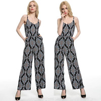 Women's Fashion Print Bohemia Summer Jumpsuit [4905586052]