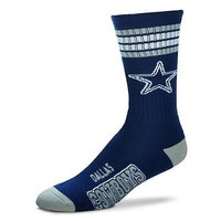 DALLAS COWBOYS DEUCE STRIPED CREW SOCKS SIZE LARGE BRAND NEW FOR BARE FEET