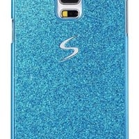 Galaxy S5 Case, I'EXCEL Luxury Beauty Hybrid Hard PC Shiny Bling Glitter Sparkle Cover Case for Samsung Galaxy S5 i9600 (Hard Blue)