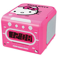 Hello Kitty AM/FM Stereo Alarm Clock with Top Loading CD Player | Meijer.com