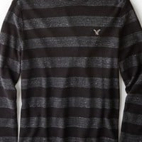 AEO 's Heritage Striped Thermal (Storm Heather)