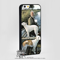 Goodfellas Painting Of Old Man With Two Dogs For Apple, Iphone, Ipod, Samsung Galaxy Case