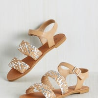 Worth the Plait Sandal | Mod Retro Vintage Sandals | ModCloth.com