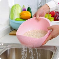 Plastic Clean Rice Wash Rice Sieve Fresh Rice Machine Vegetables Manual Kitchen Cooking Tools fruit bowl basket household