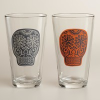 Los Muertos Pint Glasses, Set of 4