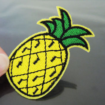 Pineapple Patch Fruit patches Yellow patch Applique embroidered patch Iron On Patch Sew On Patch