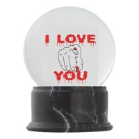 I Love You Snow Globe
