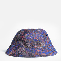 Persian Rug Bucket Hat in Dark Royal Blue