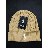 Polo Ralph Lauren Women Men Embroidery Beanies Knit Hat Warm Woolen Hat
