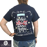 Southern Couture Preppy Summer Nights Fire Flies T-Shirt