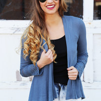 Show Me Your Spring Open Cardigan {Blue}