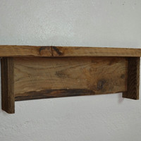Recycled wood shelf 22 wide 5 deep great natural color and character