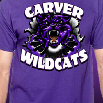 Carver Wildcats Tear T-Shirt