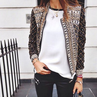 On Sale Sports Hot Deal Winter Hot Sale Print Jacket Blazer Baseball [6338731972]