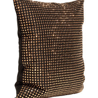 Gold Cushion Cover with Studs