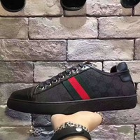 Gucci Men's GG Guccissima Canvas Fashion Casual Sneakers Shoes