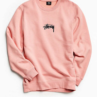 Stussy Stock Applique Crew Neck Sweatshirt | Urban Outfitters