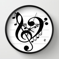 Love Music II Wall Clock by RichCaspian