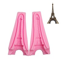 Eiffel Tower Fondant Cake Molds 3D Silicone Soap Mould Sugarcraft & Candy Chocolate Mould Bakeware Cakes Decorating Tools
