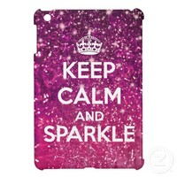 Keep Calm and Sparkle Glitter LookLike Case For The iPad Mini from Zazzle.com