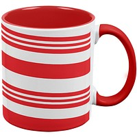 Christmas Candy Cane Red Handle Coffee Mug