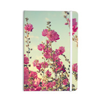 """Sylvia Cook """"Pink Lavatera"""" Flowers Sky Everything Notebook"""