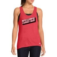 Under Armour Women's Under Armour Legacy Texas Tech Charged Cotton Tri-Blend Tank
