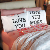 Valentine's Day: I love You, Love You More Pillowcase Set of 2