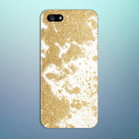 Gold Glitter Splash x White Background Design Phone Case for iPhone 6 6 Plus iPhone 5 5s 5c 4 4s Samsung Galaxy s5 s4 and Note 5 4