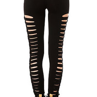 The Side Lace Legging in Black
