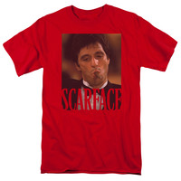 SCARFACE/SMOKING CIGAR-S/S ADULT 18/1-RED