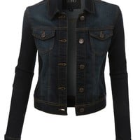 Long Sleeve Denim Jacket (CLEARANCE)