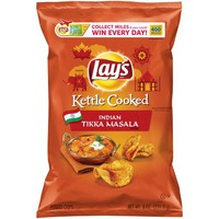 Lay's® Kettle Cooked Indian Tikka Masala Flavored Potato Chips 7.75 oz. Bag - Walmart.com