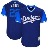 "Men's Los Angeles Dodgers Clayton Kershaw ""Kersh"" Majestic Navy 2017 Players Weekend Authentic Jersey"