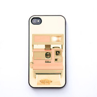 iPhone Case iPhone 4s vintage polaroid camera pastel by bomobob