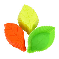 The new silicone bakeware kitchen utensils leaves food cake mold 9 * 5.5 * 3.2 = 8 g   20PCS