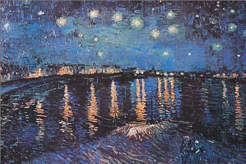 Image of Vincent Van Gogh Starry Night Over Rhone Poster 24x36