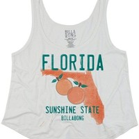 Billabong Women's Where I Come From Tank Dark Athletic Grey Large