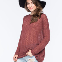 Volcom Free To Go Womens Pullover Sweater Cognac  In Sizes