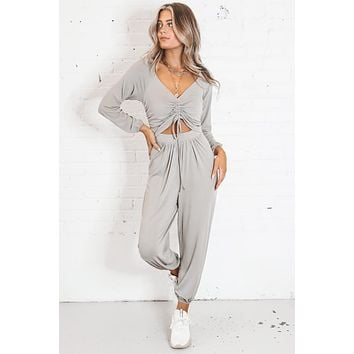 Seal The Deal Sage Jumpsuit
